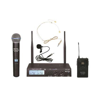 2x100 Kanal UHF Kablosuz Telsiz EL+YAKA Mikrofon Resmi